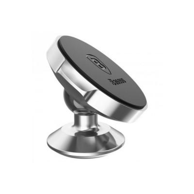 Компактный магнитный держатель для телефона Baseus Small Ears Series Magnetic Bracket (SUER-B0S), серебристый